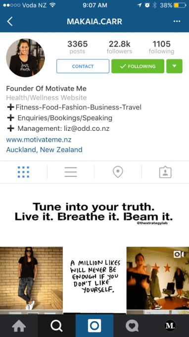 modelo de mudanças no instagram